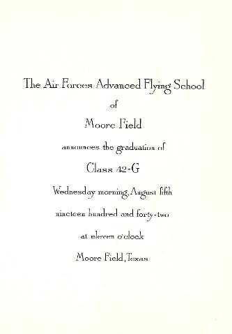 Moore Field, Texas, Advanced Flight School Graduation Program