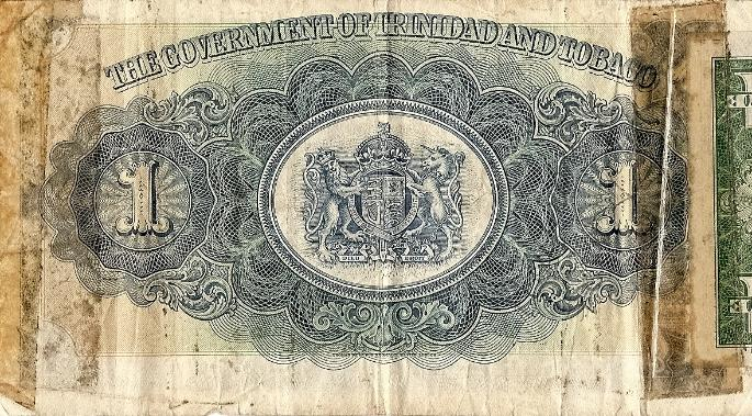 Trinidad and Tobago One Dollar Short Snorter back