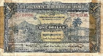 Henry Heyser Trinidad and Tobago 1 Dollar Short Snorter front