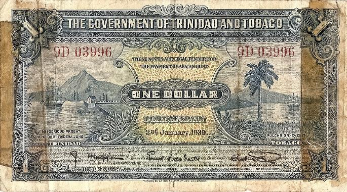 Trinidad and Tobago One Dollar Short Snorter Front