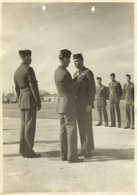 Photo of Staff Sergeant James C. Haislip Receiving a Commendation