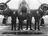 Philip D. McQuellin with the crew of a Hudson from No 2 Squadron, 31 OTU, at Debert, Nova Scotia, November 1943.