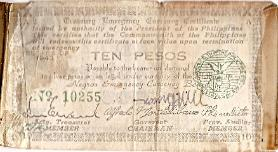 Robert James Marguerite Philippines Guerilla 10 Peso Short Snorter front